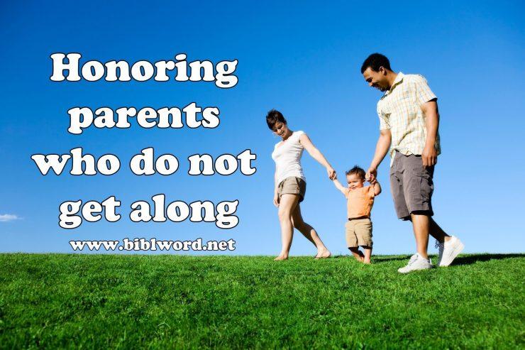 Honrar a los padres que no se llevan bien