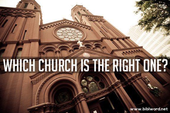 ¿Cuál iglesia es la correcta?