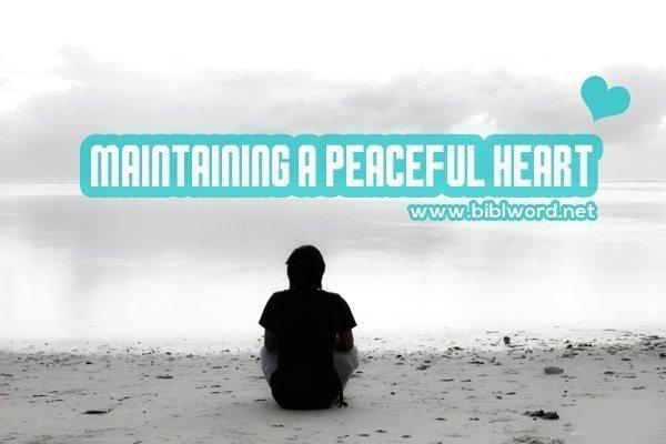 Mantener un corazón pacífico en medio de calumnias