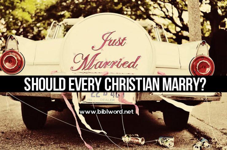 Tu pregunta: ¿Como cristiano debo ser casado?